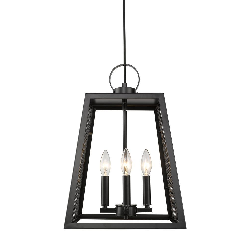 Abbott 4-Light Black Pendant