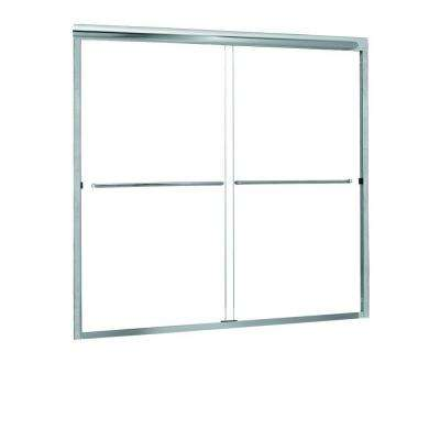 Cove 54 in. to 58 in. x 55 in. Semi-Framed Sliding Bypass Tub/Shower Door in Silver with 1/4 in. Clear Glass