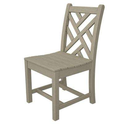 Chippendale Sand All-Weather Plastic Outdoor Dining Side Chair