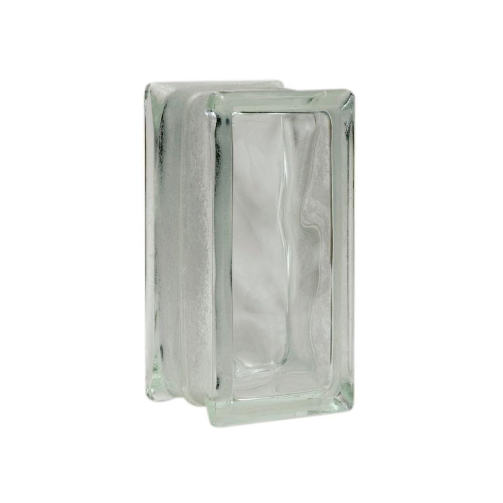 Decora 7-3/4 in. x 3-3/4 in. x 3-1/8 in. Thinline Glass Block (16-Pack)