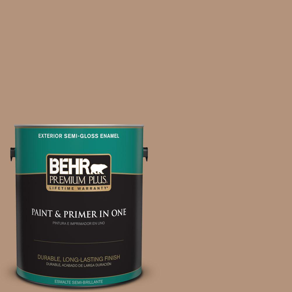 1 gal. #HDC-FL14-6 Gingerbread Latte Semi-Gloss Enamel Exterior Paint
