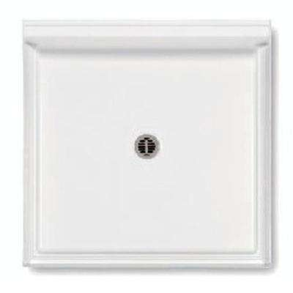 42 in. x 42 in. Single Threshold Shower Base in White