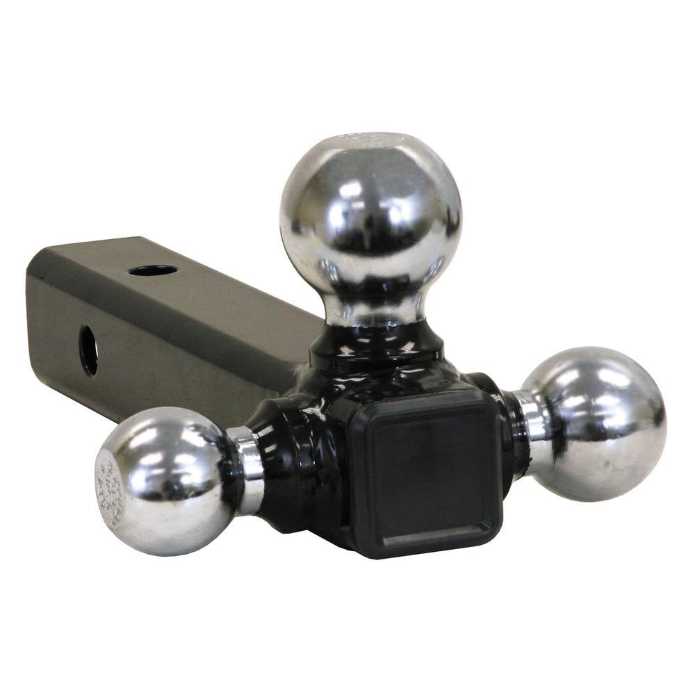 Tri-Ball Hitch-Tubular Shank with Chrome Towing Balls