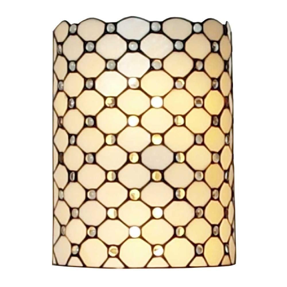 2-Light Tiffany Style Jeweled Wall Sconce Lamp