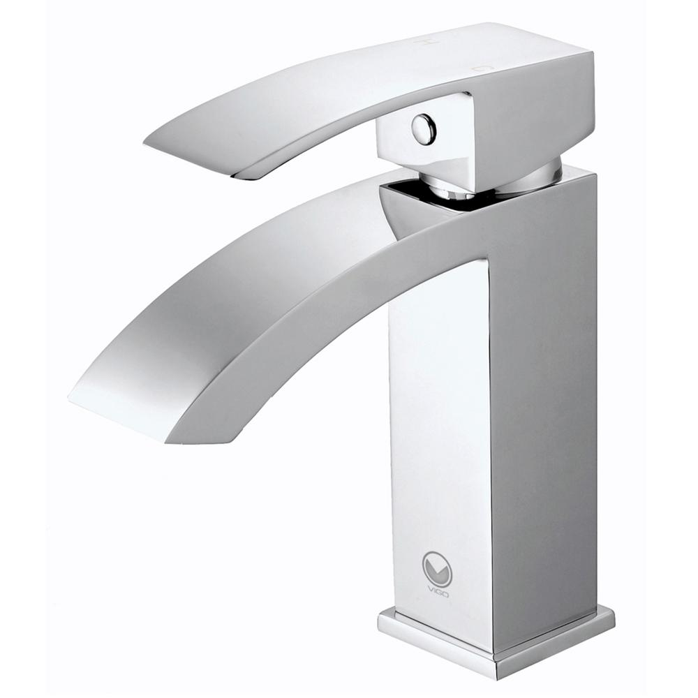 Single Lever Bathroom Faucets: VIGO Single Hole Single-Handle Bathroom Faucet In Chrome