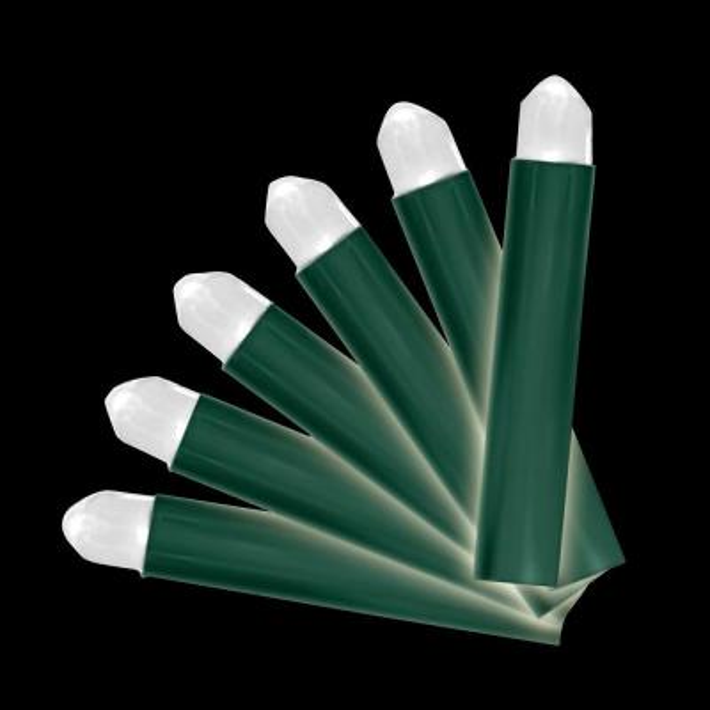 Battery-Operated 20-Light Pure White 5mm Little Light LED Light Set (Set of 2)