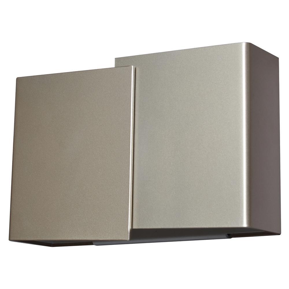 Casino 18-Watt 120-277-Volt Satin Nickel Integrated LED Wall Mount Sconce