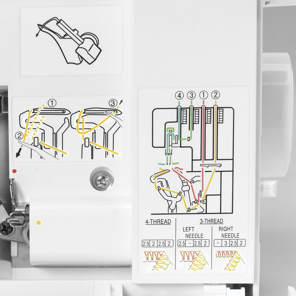 f0b3080e1d0 Singer Stylist Serger Sewing Machine with 2-3-4 Thread Capability 14SH764CL  - The Home Depot