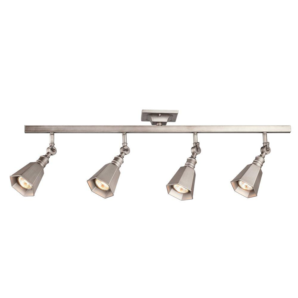 Hampton Bay Chestnut 4 Light Antique Pewter Track Lighting