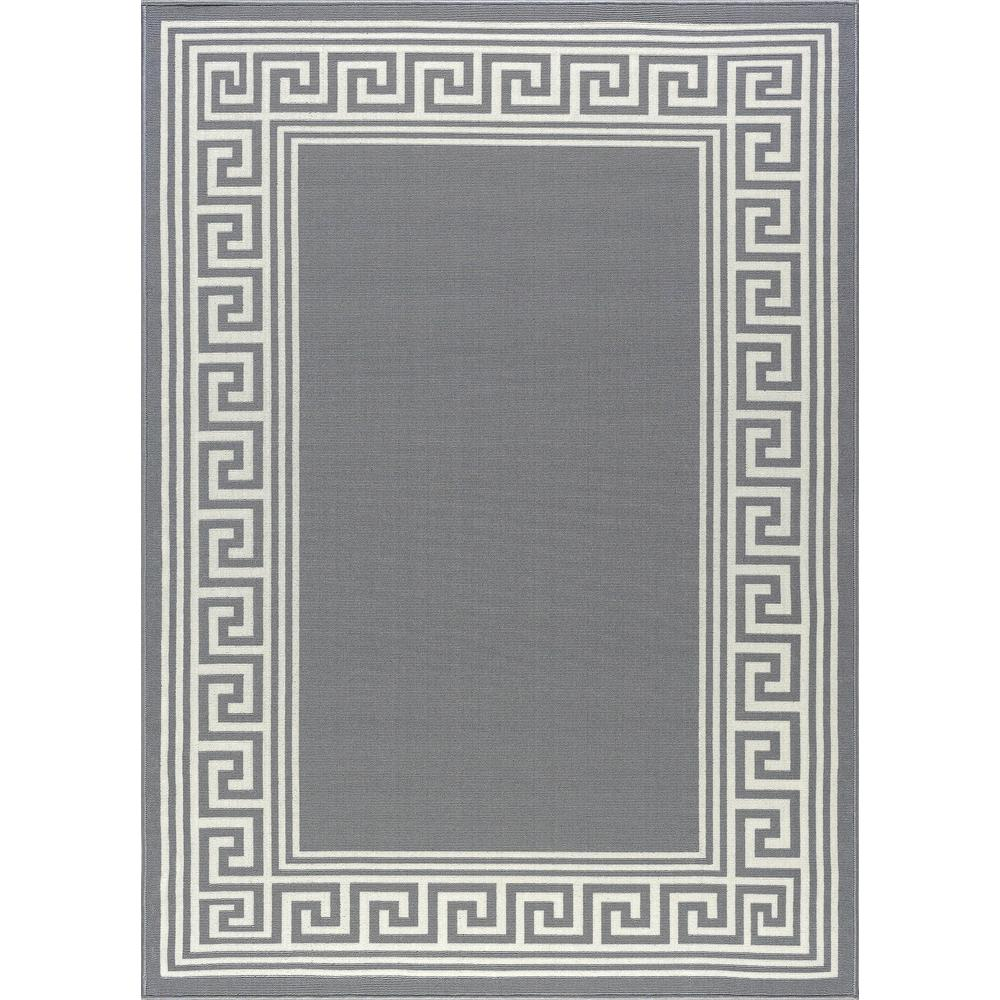 tayse rugs garden city gray 8 ft x 10 ft transitional area rug - Home Depot Garden City