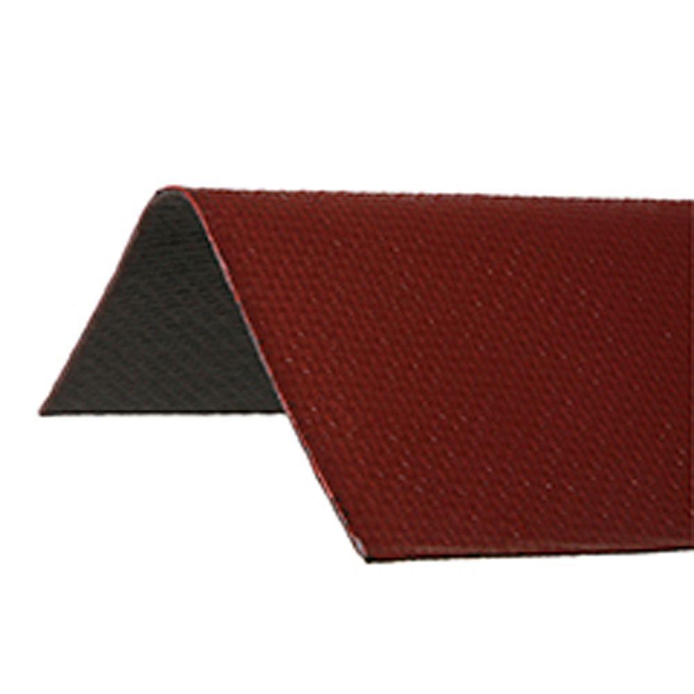 Ondura 6.5 ft. x 12.5 in. Red Asphalt Roof Panel Ridge Cap