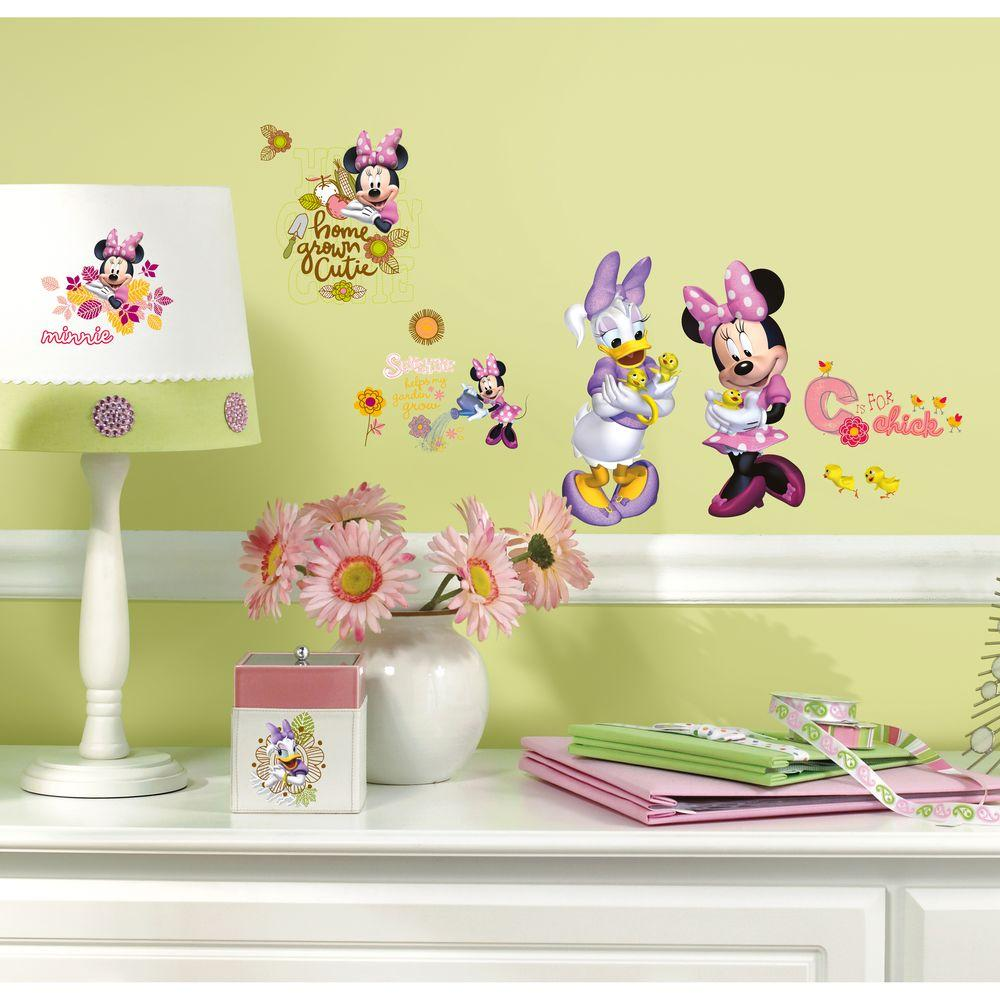 RoomMates 10 in. x 18 in. Mickey and Friends - Minnie Mouse Barnyard ...
