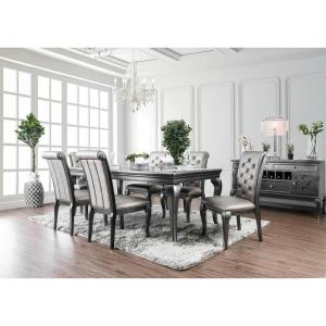 Anima Gray Transitional Style Dining Table