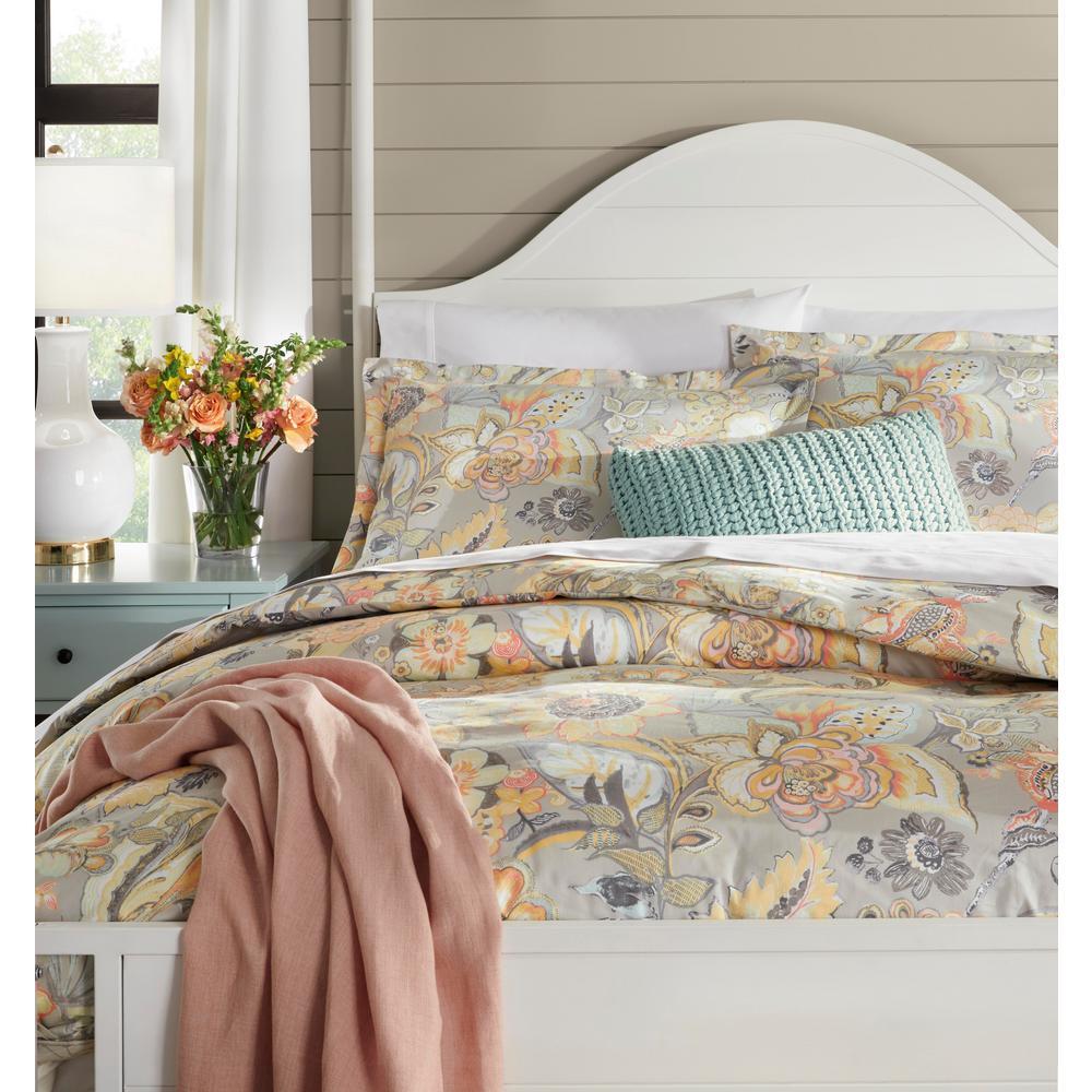 Tadhurst 3-Piece Floral Reversible Duvet Cover Set