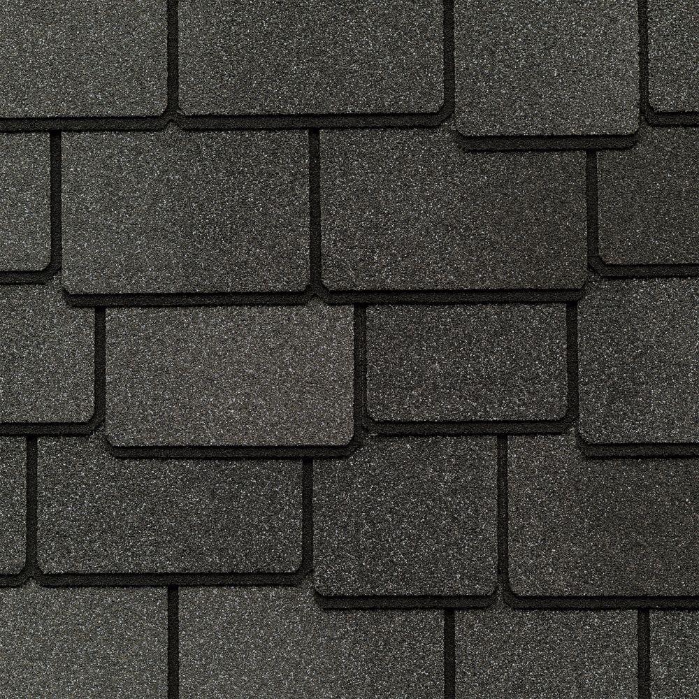 GAF Woodland Castlewood Gray Designer Laminated Architectural Shingles (25 sq. ft. per Bundle) (14-pieces)