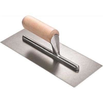 1/16 in. x 1/16 in. x 3/32 in. U-Notch Wood Handle Finishing Trowel