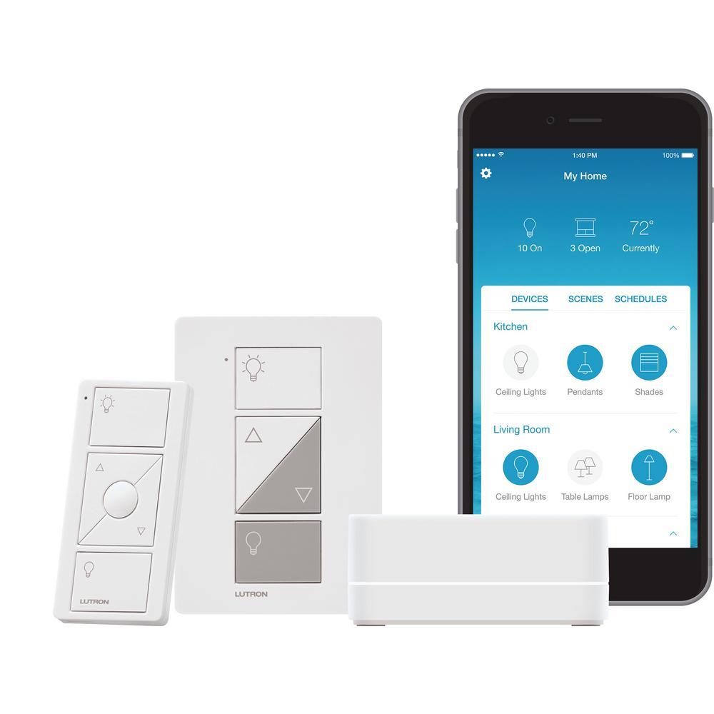 Caseta Wireless Smart Lighting Lamp Dimmer Switch Starter Kit