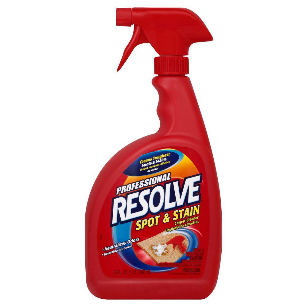 carpet spot cleaner resolve 32 oz procare carpet spot and stain remover 31302