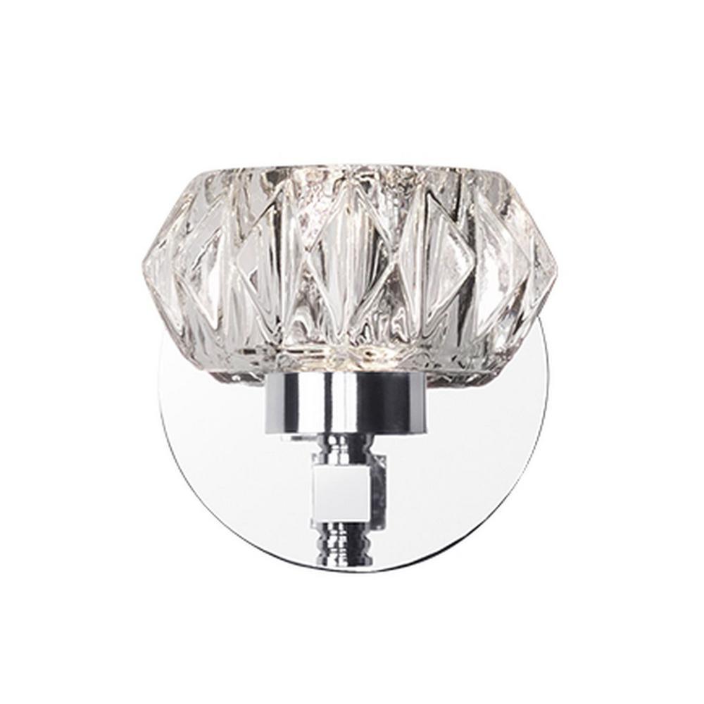 Nevaeh 1-Light Chrome 40-Watt Equivalence Integrated LED Bath Light