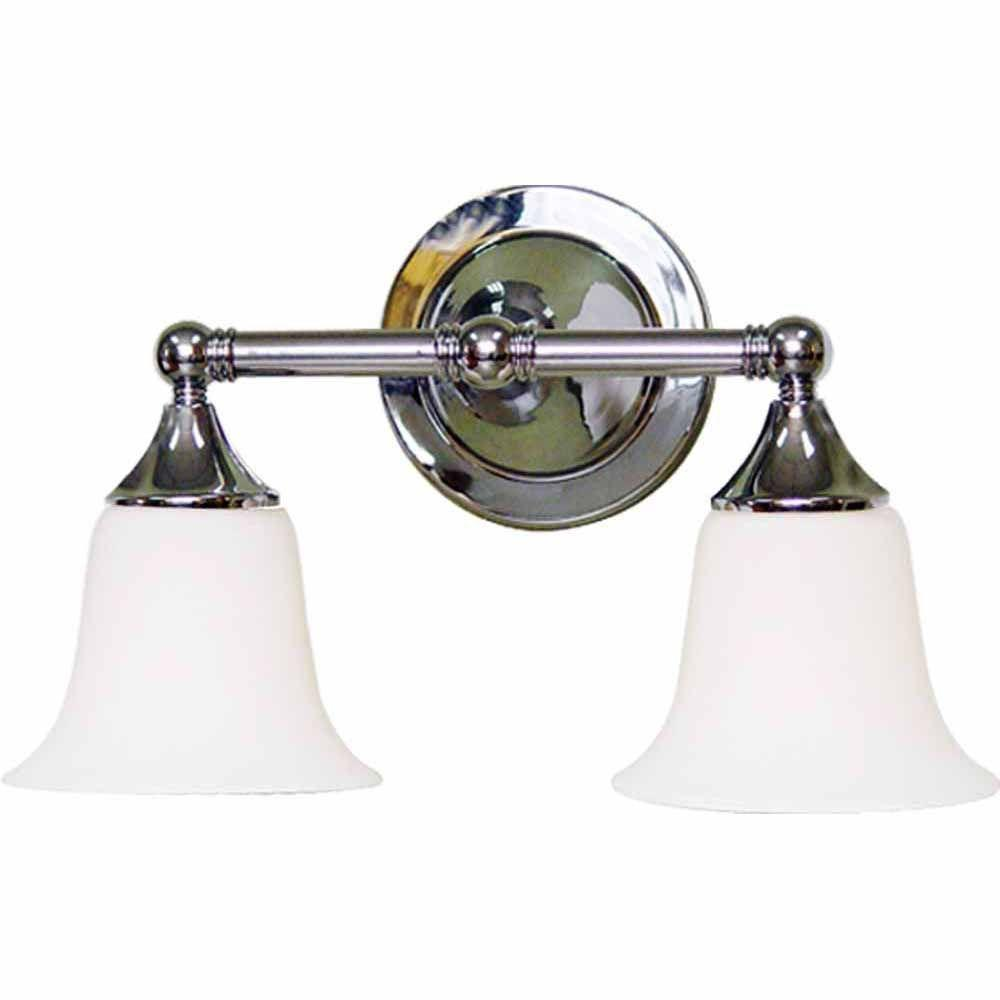 Filament Design Lenor 2-Light Brushed Nickel Incandescent Wall Bath Vanity Light