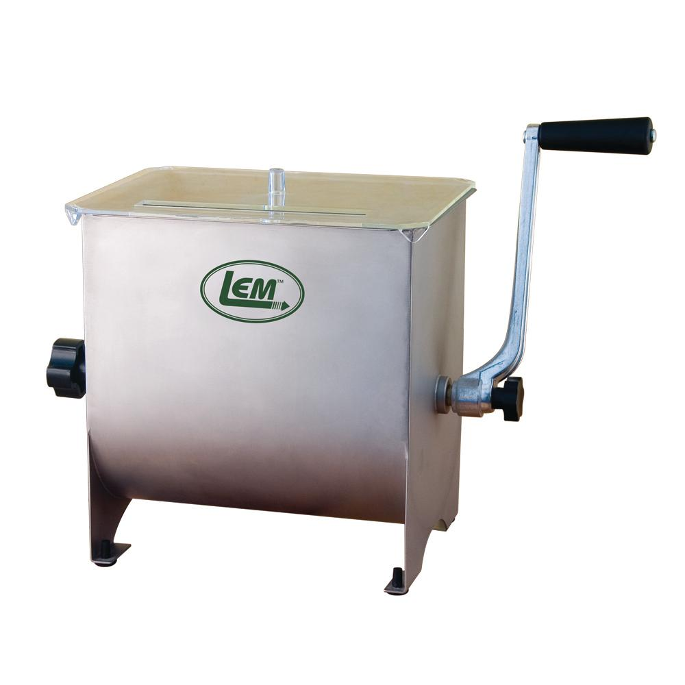 Lem 10 Qt Manual Stainless Steel Meat Stand Mixer 654