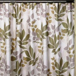 Creative Bath Shadow Leaves 72 In X 100 Cotton Botanical