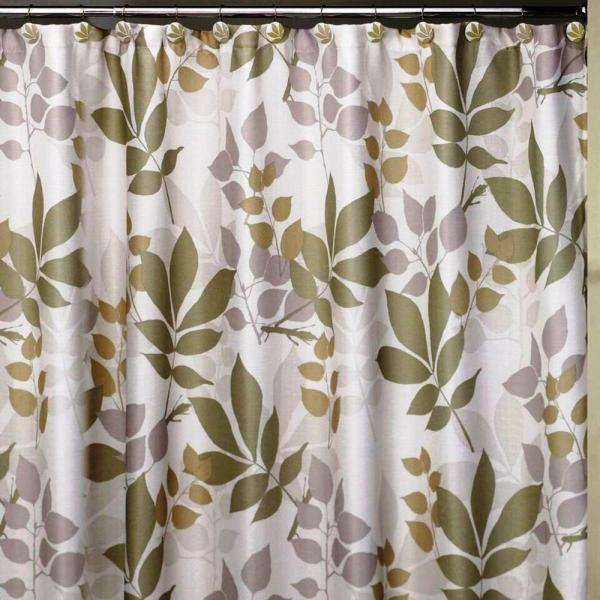 Creative Bath Shadow Leaves 72 in. x 72 in. 100% Cotton