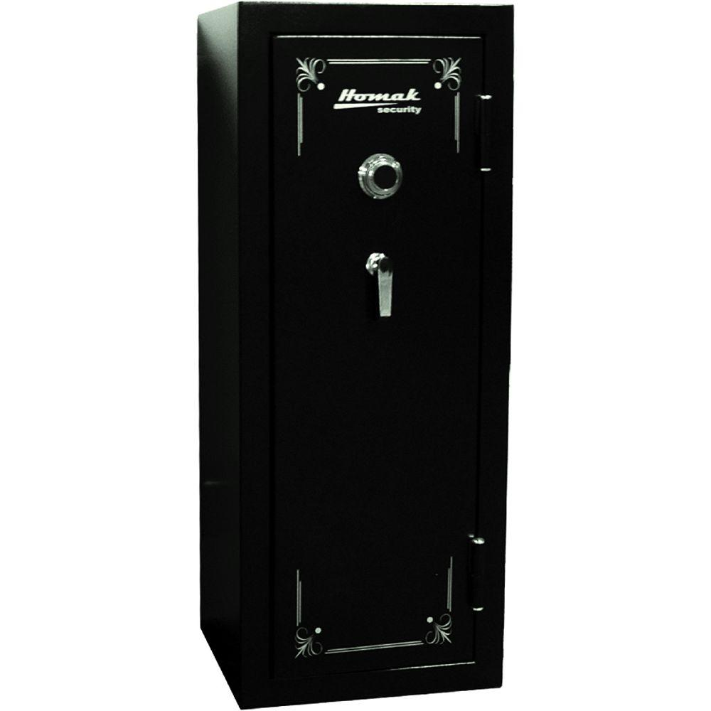 Homak Security 16 Gun Fire-Resistant Mechanical Black Steel Security Safe
