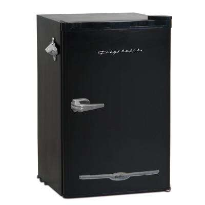 3.2 cu. ft. Retro Mini Refrigerator in Black