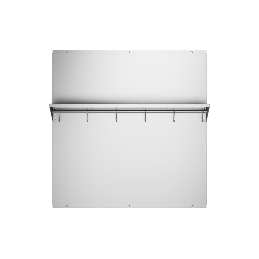 30 in. x 30.75 in. Stainless Steel Backsplash with Stainless Steel