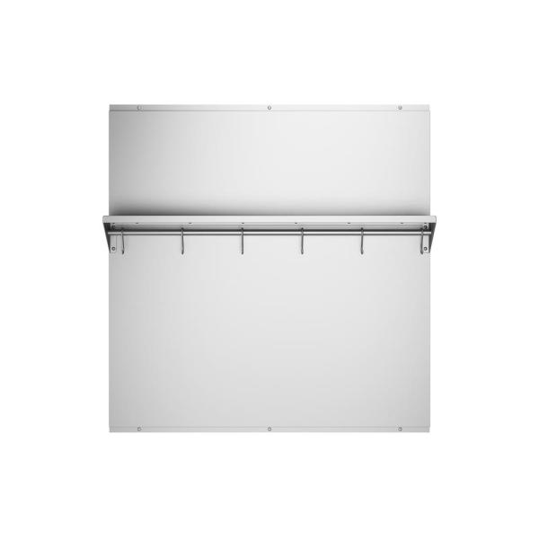 30 in. x 30.75 in. Stainless Steel Backsplash with Stainless Steel Shelf