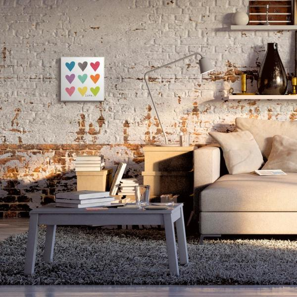 The Stupell Home Decor Collection 12 In X 12 In Watercolor Cute Hearts Love By Alli Rogosich Printed Wood Wall Art Mwp 425 Wd 12x12 The Home Depot