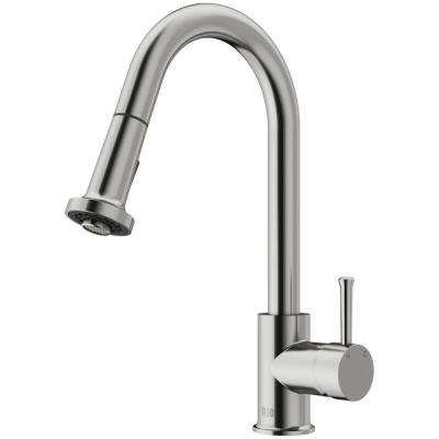 Harrison Single-Handle Pull-Down Sprayer Kitchen Faucet in Stainless Steel