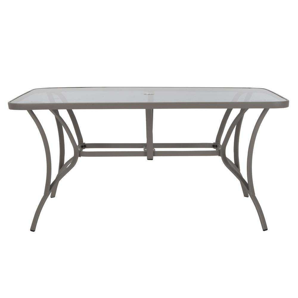 5d7120402b5d Cosco Paloma Sand Steel Outdoor Dining Table with Tempered Glass Table Top