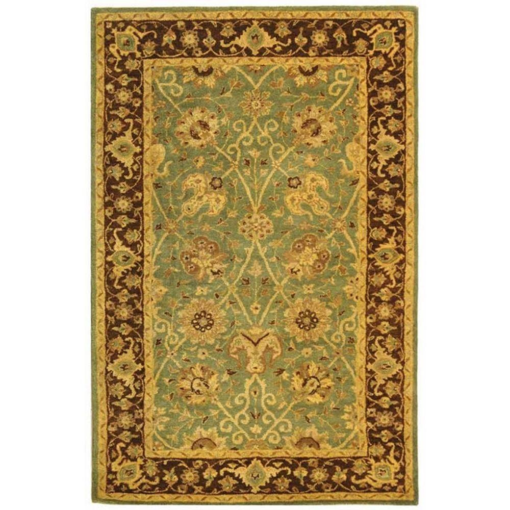 Safavieh Antiquity Green/Brown 5 Ft. X 8 Ft. Area Rug