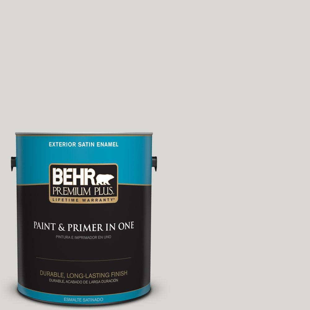 1-gal. #ICC-23 Silver Tradition Satin Enamel Exterior Paint