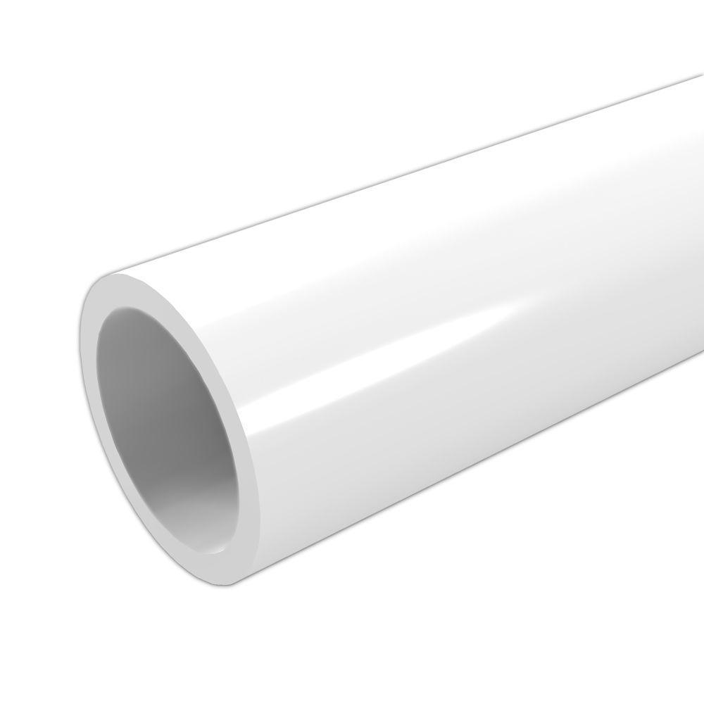 Formufit 1-1/4 in. x 5 ft. Furniture Grade Sch. 40 PVC Pipe in White