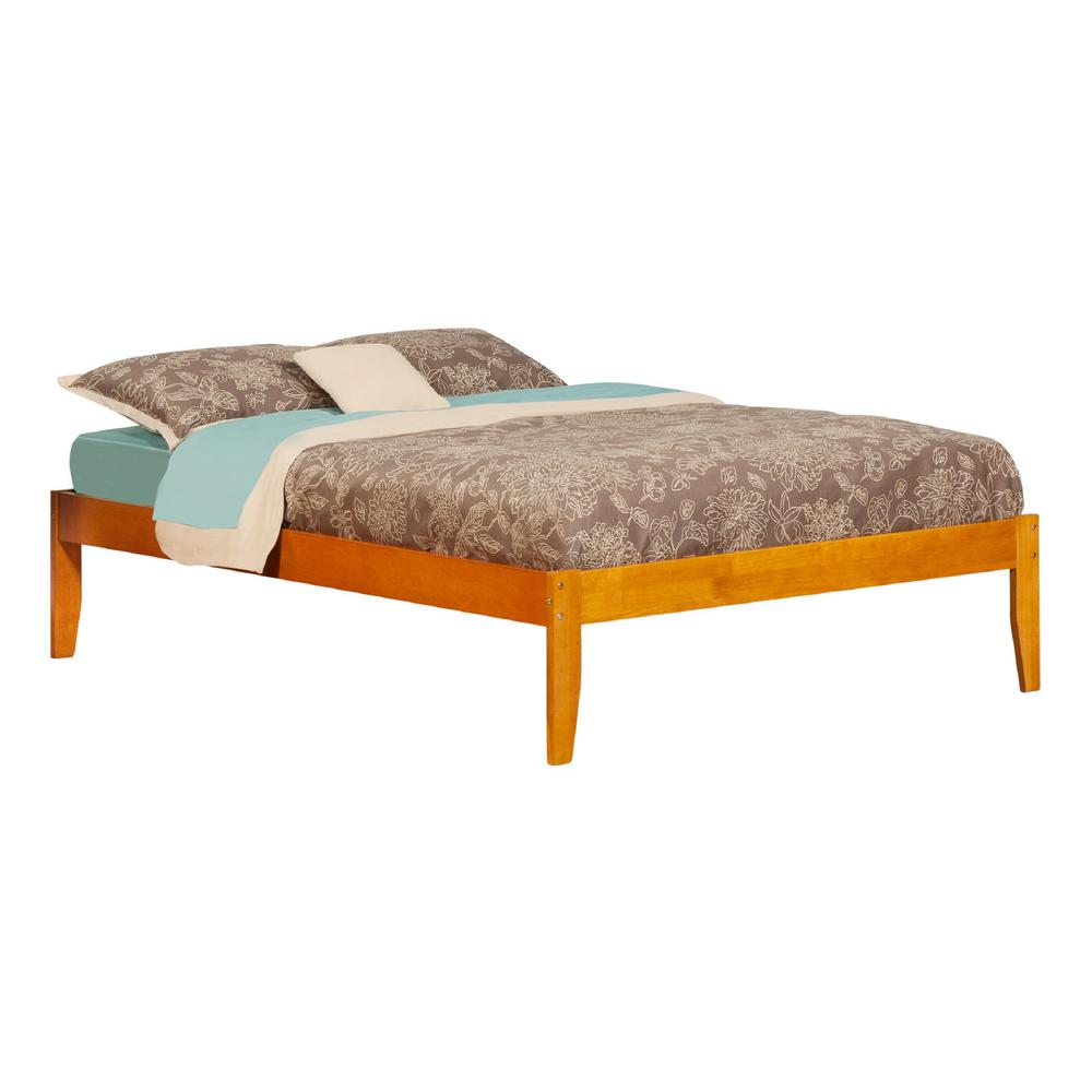 Atlantic Concord Caramel Full Platform Bed with Open Foot...