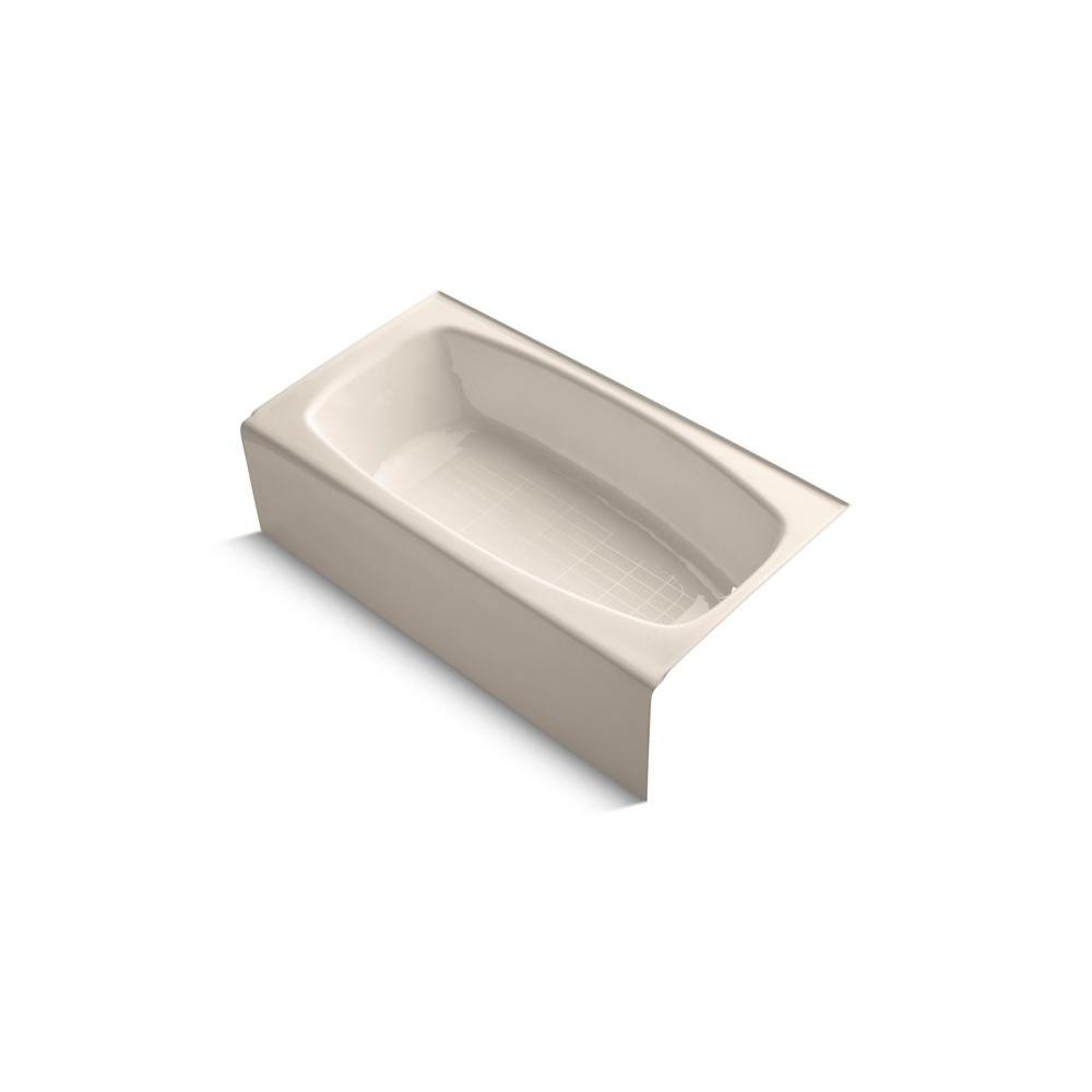 KOHLER Dynametric 5 ft. Right Drain Soaking Tub in Innocent Blush