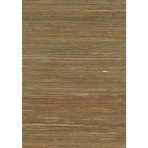 Kenneth James 72 sq. ft. Kaito Olive Grasscloth Wallpaper 53-65434