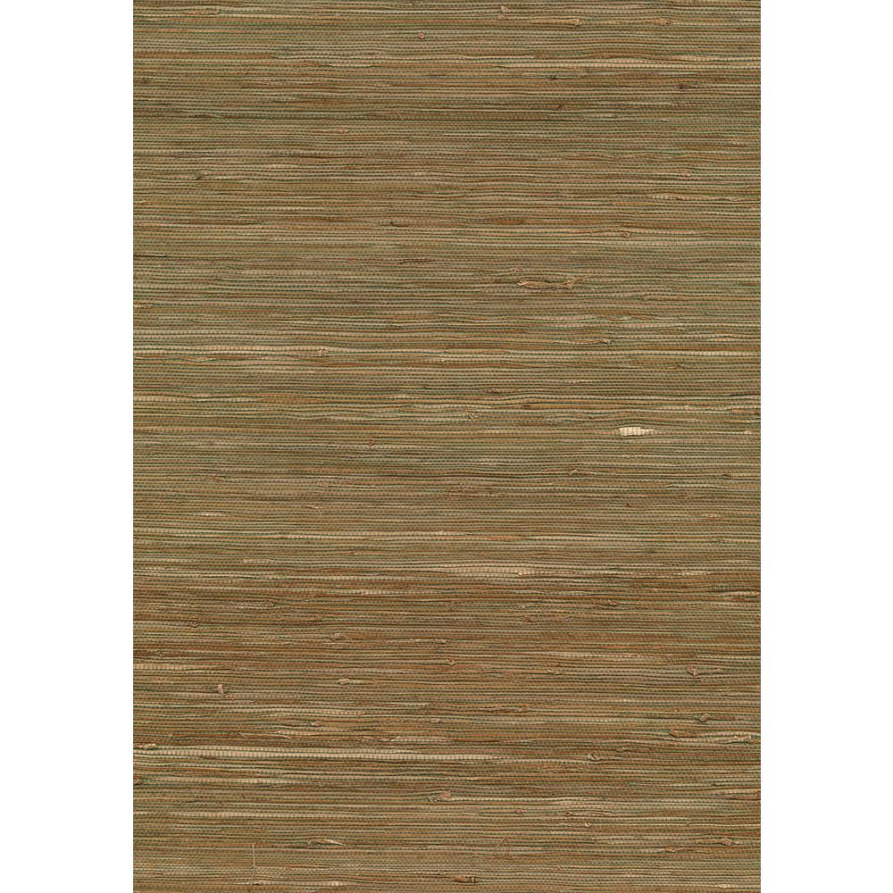 8 in. x 10 in. Kaito Olive Grasscloth Wallpaper Sample