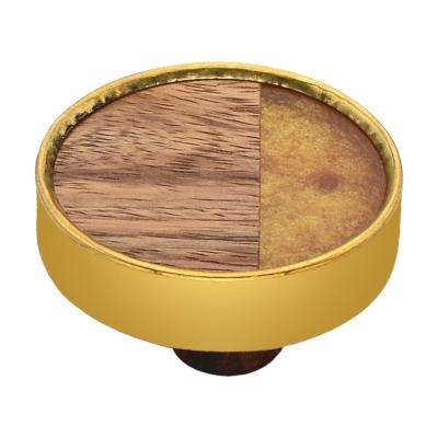 Athena 1-3/5 in. Wood and Onaxe Cabinet Knob