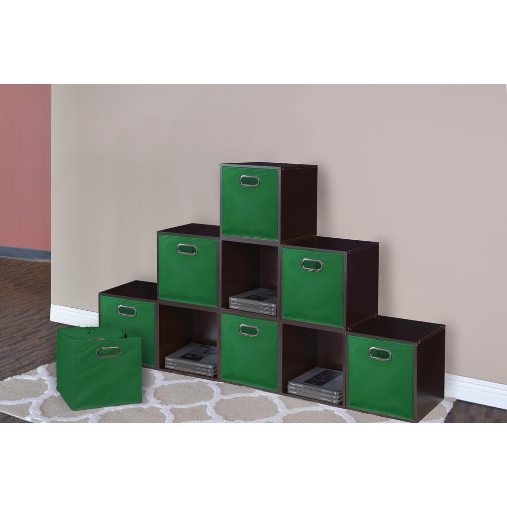 Cubo 12 in. x 12 in. Green Foldable Fabric Bin (12-Pack)