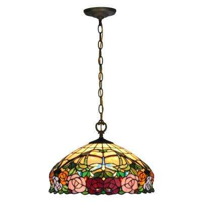 Zenia Rose 1-Light Antique Brass Pendant
