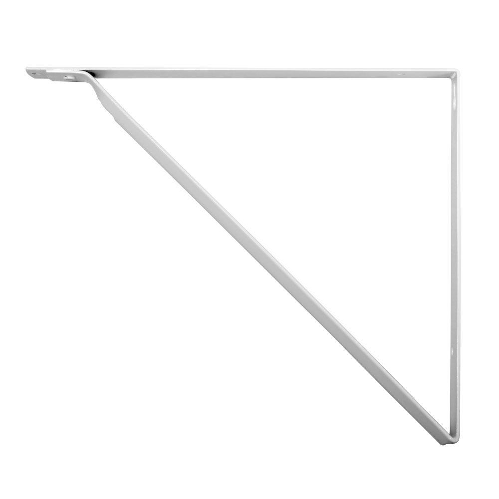 everbilt 10 1 4 in x 1 in white shelf bracket hd 0046 wt. Black Bedroom Furniture Sets. Home Design Ideas