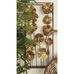 15 inch x 34 inch Contemporary Flower Box Wall Decor in Matte Finish (2-Pack) by