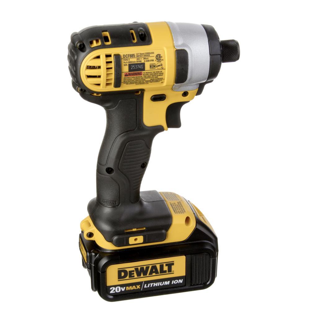 DeWALT DCK285L2 20V MAX Lithium Ion Hammer Drill Impact Driver Tool Kit