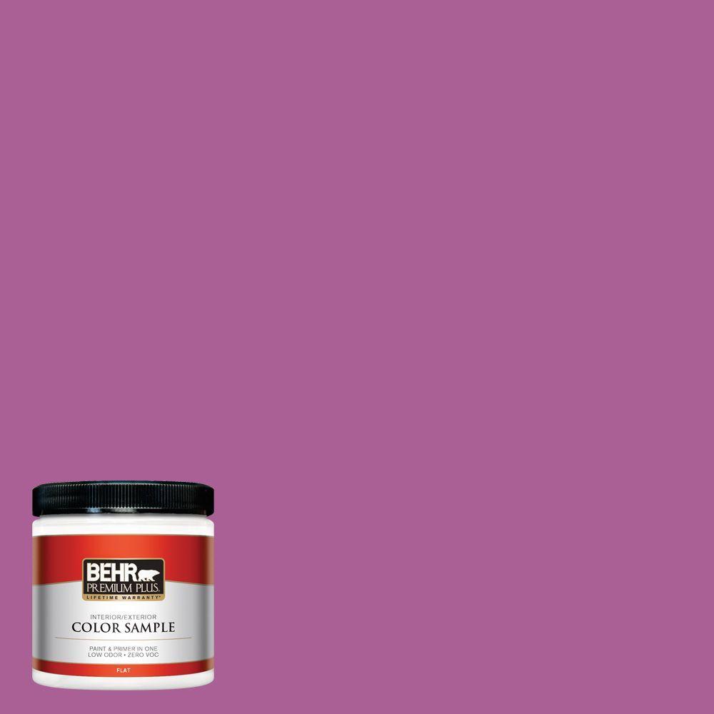 BEHR Premium Plus 8 oz. #680B-6 Exotic Bloom Interior/Exterior Paint Sample