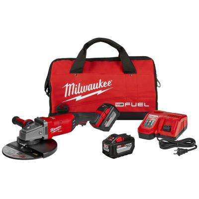 M18 FUEL 18-Volt Lithium-Ion Brushless Cordless 7/9 in. Grinder Kit W/ (2) 12.0Ah Batteries, Bag & Rapid Charger
