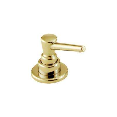 Soap and Lotion Dispenser in Polished Brass